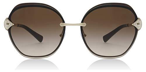 Bvlgari BV6111B 203413 Gold / Brown BV6111B Square Sunglasses Lens Category 3 Size 60mm