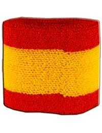 Digni® Poignet éponge avec drapeau Espagne - Pack de 2 pièces