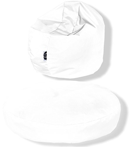 Patchhome Sitzkissen Rund 2 in 1 - Weiß - 120x20cm in 25 Farben und 7 versch. Größen