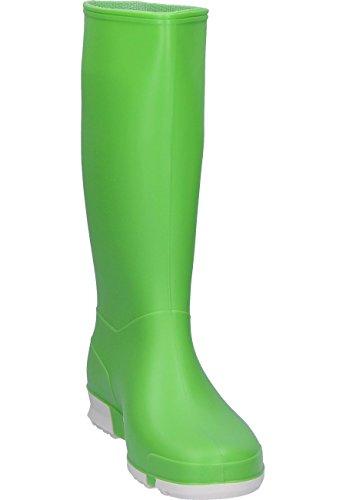 NUOVO DUNLOP SPORT STIVALI MASSIMO COMFORT DI SICUREZZA DONNA IN PVC GOMMA Verde Brillante