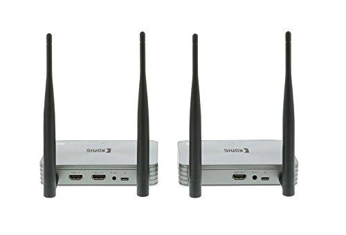 Eurosell AV Funkübertragung HDMI Funk funkübertragungsset Set System 5 GHz Wireless-HDMI-Transmitter 1080p / 3D Podpora - Reichweite 100 m