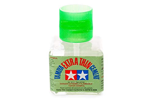 Tamiya 87038 - Colla Extra Liquido con Pennello applicatore, Bottiglia, 40 ml