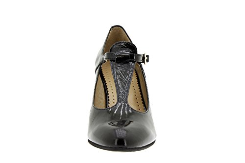 Scarpe donna comfort pelle Piesanto 5207 décolleté scarpe di sera comfort larghezza speciale Negro
