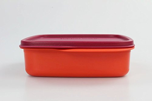 TUPPERWARE To Go Lunchbox 550 ml orange/rot mit Trennwand Clevere Pause Schule 11560