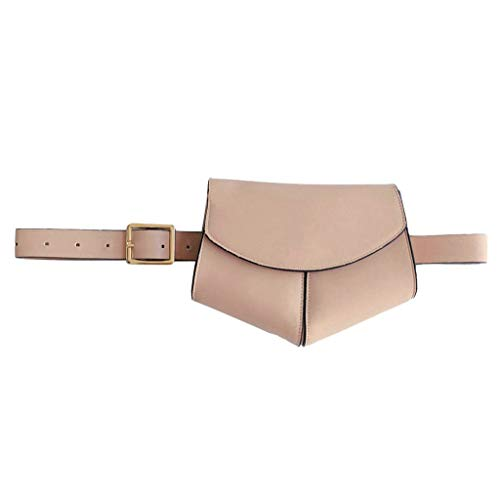 Serpentine Leder (Damen Frauen Hüfttasche Serpentine Gürteltasche Leder Mode Schlangenhaut Gürtel Sports and Outdoor Belt Bag Chest Bag Gürteltasche)