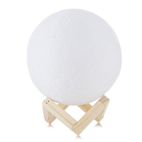 GHKL Wiederaufladbare 3D-Druck-Mondlampe 2 Farbwechsel Touch-Schlafzimmer Bücherregal Nacht Light Home Dekor Kreatives Geschenk (Cookie-projektor)