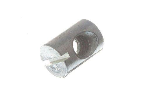 Barrel Nut für Möbel- Bolt mit Schlitz M6 x 14 Lang Zp ( Packung mit 10)