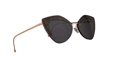 Fendi FF0355/S Sonnenbrille Grau Mit Grauen Blauen Gläsern 66mm KB7IR FF0355S FF 0355/S