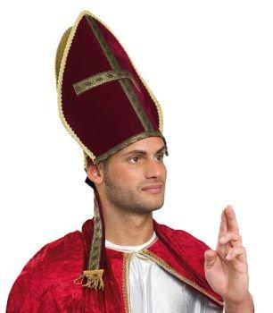 Bischofsmuetze Mütze Bischof Mitra Bischofshut Weihnachten Hut rot gold Kirche Nikolaus Morgenland Bischofsmitra Bischhofhut