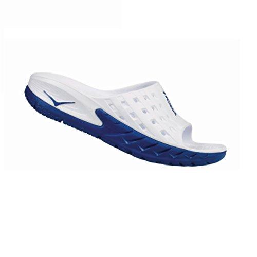 Hoka One One Ora Recovery Slide Azul y Blanca zapatos detente y Recuperation