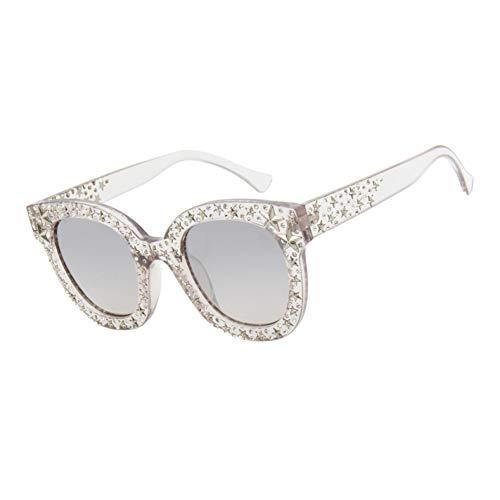 HYUHYU Vintage Cat Eye Sonnenbrille Frauen Mode Farbverlauf Schwarz Grau Rosa Strass Sonnenbrille Weibliche Uv400 Party