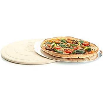 Gestell Runder Premium Pizzastein 33 x 1,5 cm Steinofen Pizza Flammkuchen