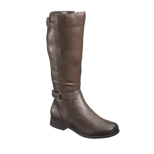 Hush Puppies Motives16Bt Rund Mode-Knie hoch Stiefel Neu Dk Brown