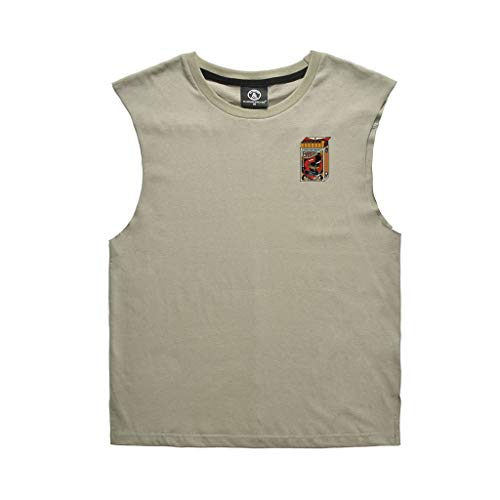 Eaylis Herren T-Shirt Einfarbig Brust Druck Sport Weste Mode Fitness Weste Top