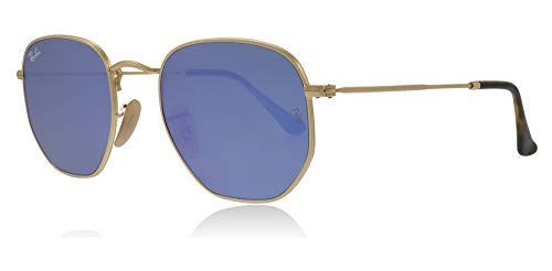 Ray-Ban 001-9O Gold 3548N Round Sunglasses Lens Category 3 Size 51mm