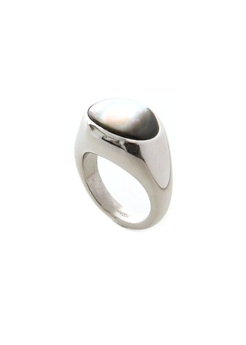 ladies-breil-duplicity-stainless-steel-ring-with-mother-of-pearl