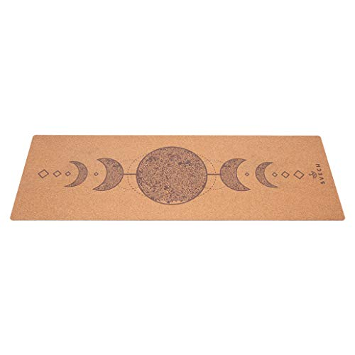 Svech Eco Friendly Soft Anti Skid Fitness Workout Thick Rubber with Suede Cosmo Cork Yoga Mat