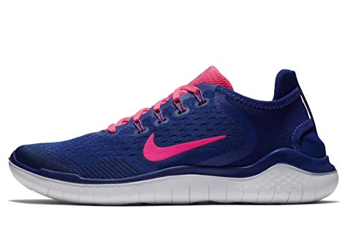 Nike Damen Free RN 2018 Sneakers, Mehrfarbig (Deep Royal Blue/Pink Blast/Obsidian 001), 39 EU