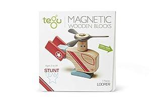 Tegu - Juego de Bloques de Construcción de Madera magnéticos Equipo Acrobacias - Looper Hélice - 7 Piezas