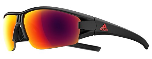 Adidas Brille evil eye halfrim ad08 - 9700 black matt red mirror (X-Small)