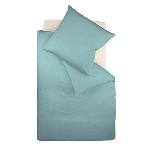 Galleria fotografica fleuresse Colours Set di biancheria da letto, Satin, Aqua, 39.2x 28.2x 4.6cm, 2unità