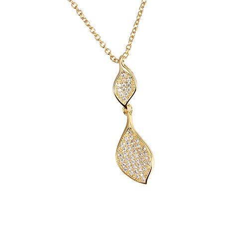 GESCHENKE für Frauen 18K vergoldet Halskette Zirkonia Exquisite Anhänger Halskette für Mädchen