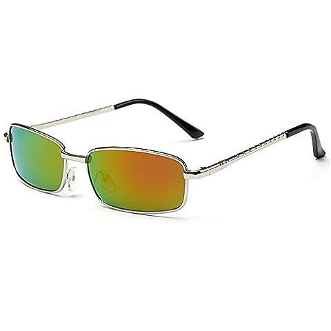 O-C men's new Classical&Fashion stylish Wayfarer and aviator UV400 metal Sunglasses polarised 54mm Width (Alpine Man-kostüm)