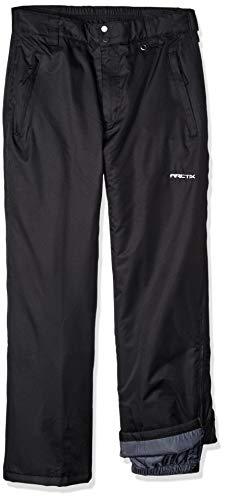 Arctix Herren Schneehose mit durchgehendem Reißverschluss, Herren, Full Side Zip Insulated Snow Pant, schwarz, Small (Pants Insulated Snow)