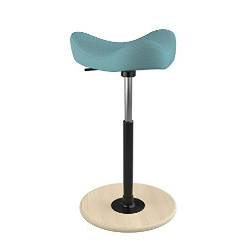 Varier Move - Höhenverstellbarer Bürostuhl. Sitz/Steh-Hocker für Flexibles Arbeiten. Naturell...
