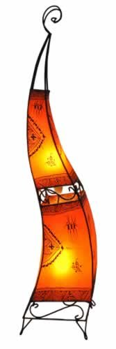 Plain Moroccan Henna Floor Lamp - Suqare - Orange 150CM - SPRING OFFER
