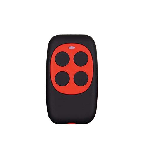 Mando De Garaje Compatible Universal Garage Door Cloning Control Remoto 280MHZ-868MHZ Copia BFT,FAAC,V2 Genius 4 Botones (Rojo)