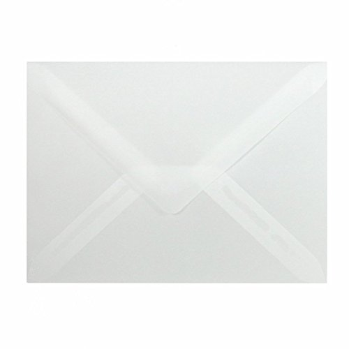 50 Mini Briefumschläge 60 x 90 mm 6 x 9 cm - Transparent - 90 g/m² - Dreieckslasche (Visitenkarten-umschlag)