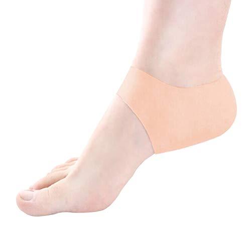 VORCOOL Ein Paar Gel-Fersenärmel-Schutzpolster Silikon Feuchtigkeitsspendendes Fersenkissen Nachtgebrauch Halbe Schmerzlinderung Socken Hautpflege-Schutz (Teint)
