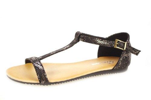 ZAPATOP , sandales femme Noir