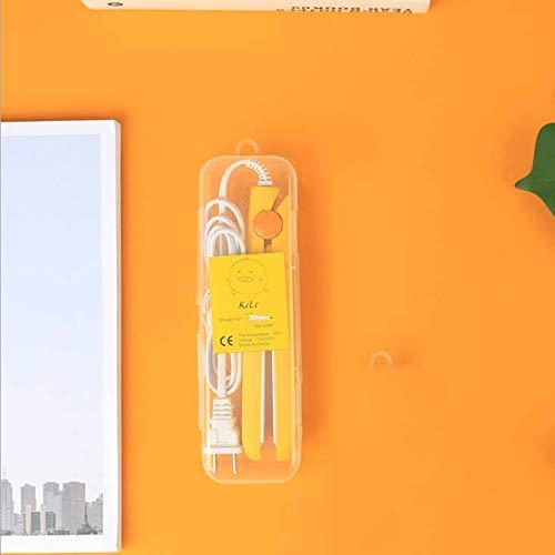 CE-LXYYD [Alisador de Pelo de Caja de plástico] Alisador, férula eléctrica de Doble Uso con Rollo Recto, Mini rizador Permanente,Amarillo