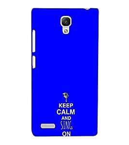 EPICCASE Sing on Mobile Back Case Cover For Xiaomi Redmi Note Prime (Designer Case)