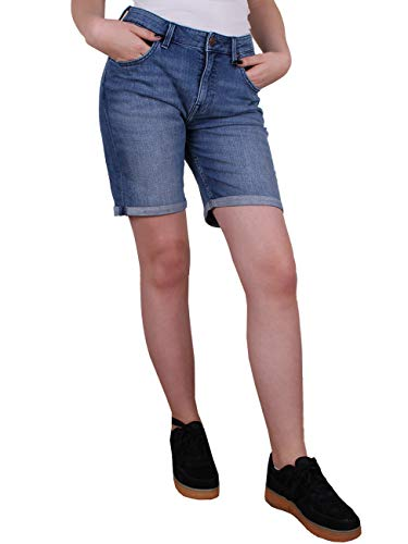 Lee Damen Jeans Short Long Boyfriend -Blau - Unplugged, Größe:W 30, Farbe:Unplugged (AUVK)