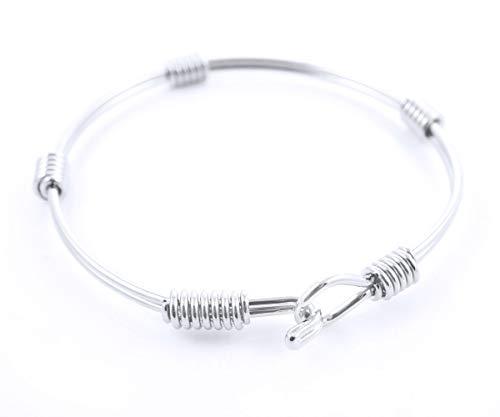 1pc Silber Plattiert Teens Erste Doppel-Armband Personalisierte Benutzerdefinierte Charms-Armband Metall Ergebnisse 60mm