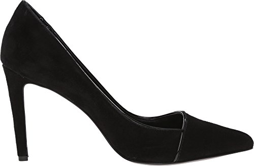 Calvin Klein, Scarpe col tacco donna Black Kid Suede/Patent
