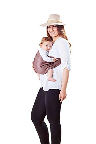 Shabany - Ring Sling - Babytragetuch - 100% Bio Baumwolle - Hochwertige Jaquard-Webung - Für Neugeborene bis 15 KG - Schnell & Einfach binden + Bindeanleitung (plays) Jaquard-wrap