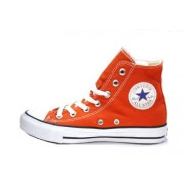 Converse montante orange citrouille