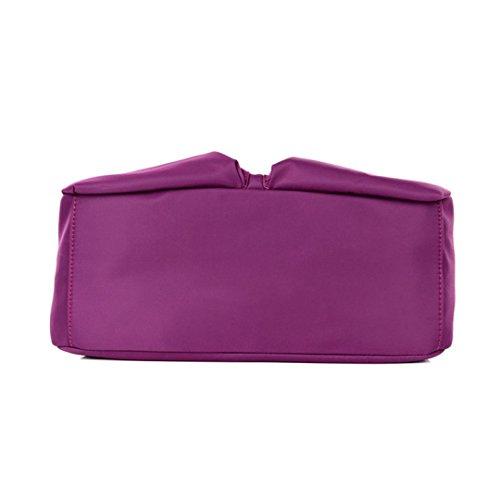 Transer Handbags & Single Shoulder Bags Women Zipper Bag Girls Hand Bag, Borsa a spalla donna Black 33cm(L)*29(H)*13cm(W) Purple