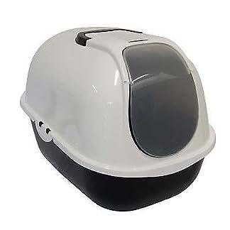Cat Flip Litter Tray Dark Grey & White Box Hooded Pan Toilet Charcoal Filter Deep Cat Flip Litter Tray Dark Grey & White Box Hooded Pan Toilet Charcoal Filter Deep 31Ynn 2B7 2BEeL