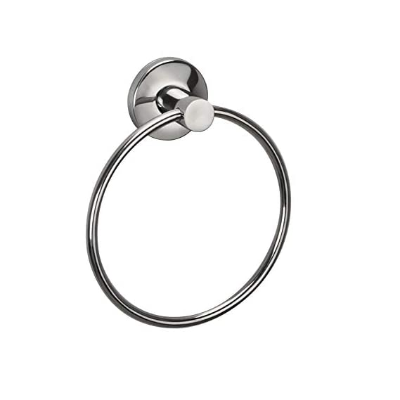 SBD Stainless Steel Bathroom Towel Napkin Ring Rod Chrome Finished (Towel Ring, Round 6 inch)
