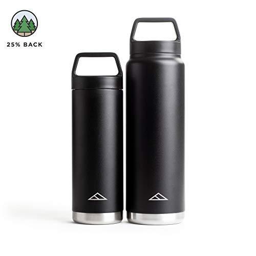 Tillak Metolius Wasser Flasche, Weithals Vakuum Isolierte Edelstahl, Schwarz, 32 oz -