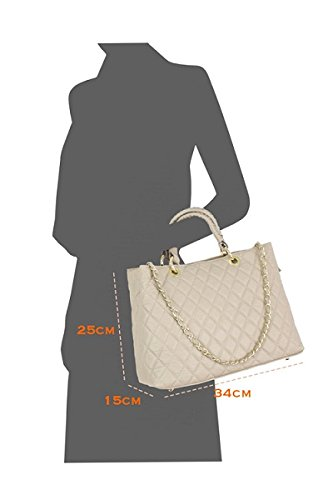 Borse a Mano Donna Classy Bag in Vera Pelle, Made in Italy Navy