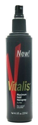 Vitalis Laque capillaire - Tenue maximum - Non parfumée - Vaporisateur de 240 ml