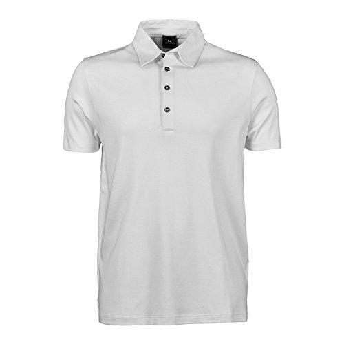 Tee Jays Pima Herren Kurzarm Poloshirt Weiß
