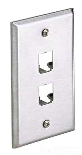 Panduit-faceplates (Panduit CFP2SY 1-Gang 2-Port Faceplate, 304 Stainless Steel by GraybaR)