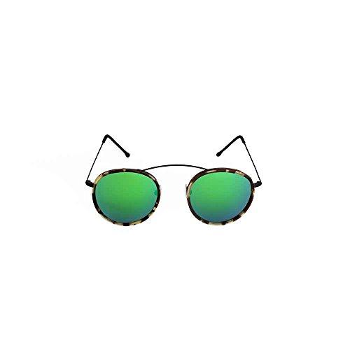 Spektre Met-ro 2 Sonnenbrille Männer Frauen hoher Schutz spiegel gruen Made in Italy
